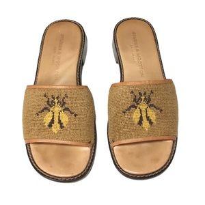 Stubbs & Wooton Bee Needle Point Slides/Sandals